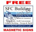 REGULAR - x10 4mm Correx Site Boards......... with FREE magnetic signs